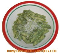 Penne With Spinach Walnut Sauce