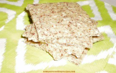 Gluten-Free Sesame Almond Crackers