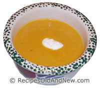 Butternut and Apple Soup