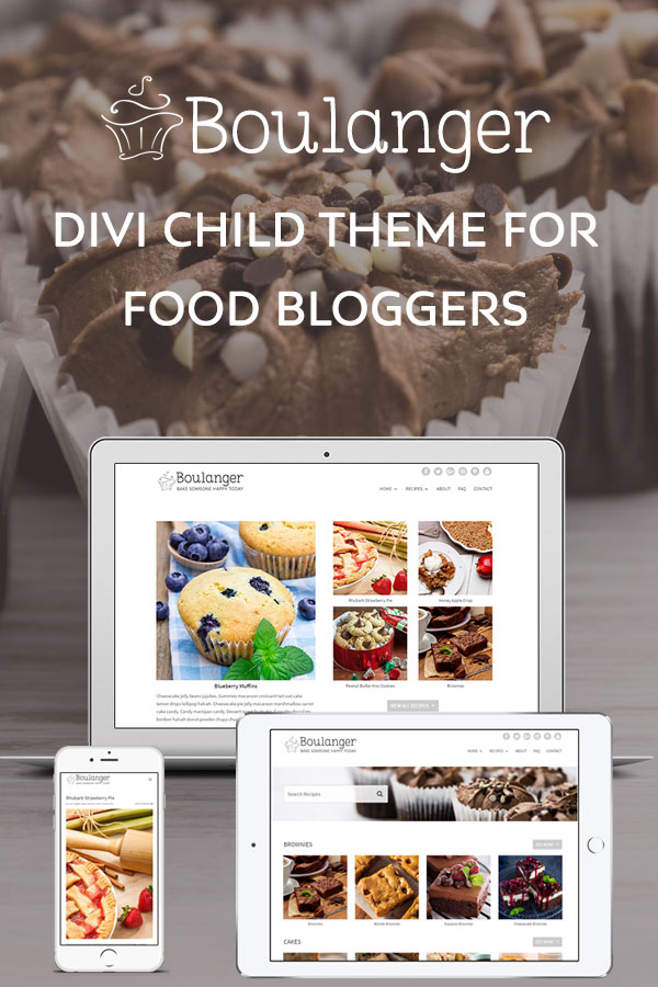 WordPress food blogger theme